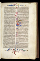 Historiated Initial With Archbishops Before The Pope, In Pope Innocent IV's Commentary On The Decretals Of Pope Gregory IX